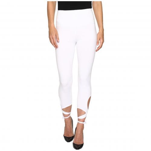 ラップ アンクル レギンス パンツ 白 ホワイト レディース 女性用 靴下 インナー 下着 レッグウェア ナイトウエア スパッツ 【 WRAP LYSSE ANKLE LEGGINGS WHITE 】