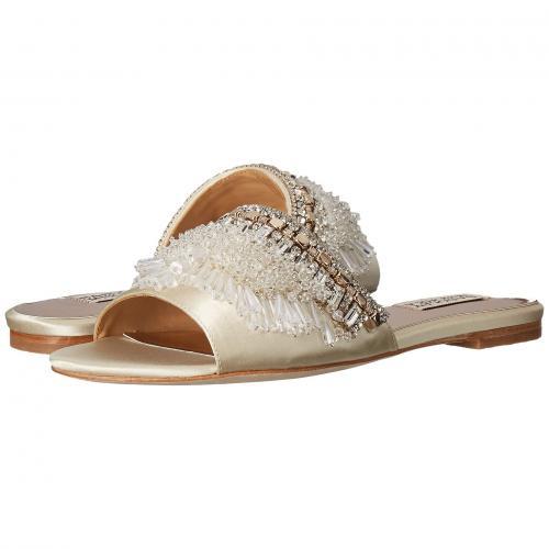 アイボリー サテン レディース 女性用 レディース靴 ミュール 靴 【 BADGLEY MISCHKA KASSANDRA IVORY SATIN 】