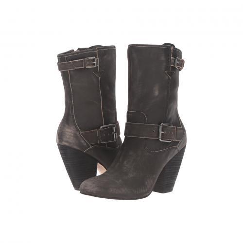 黒 ブラック レザー レディース 女性用 ブーツ 靴 レディース靴 【 BLACK CC CORSO COMO SOMERS WORN LEATHER 】