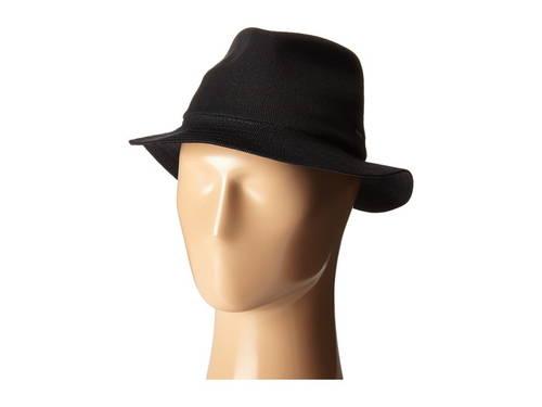 コンゴール バロン 黒 ブラック レディース 女性用 ブランド雑貨 帽子 【 BLACK KANGOL BARON TRILBY 】