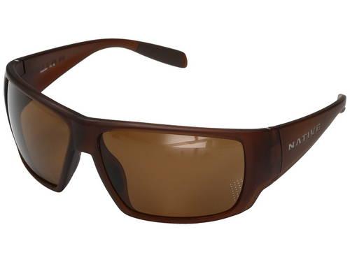 ネイティブ アイウェア マット 茶 ブラウン クリスタル メンズ 男性用 サングラス 眼鏡 【 NATIVE EYEWEAR SIGHTCASTER MATTE BROWN CRYSTAL 】