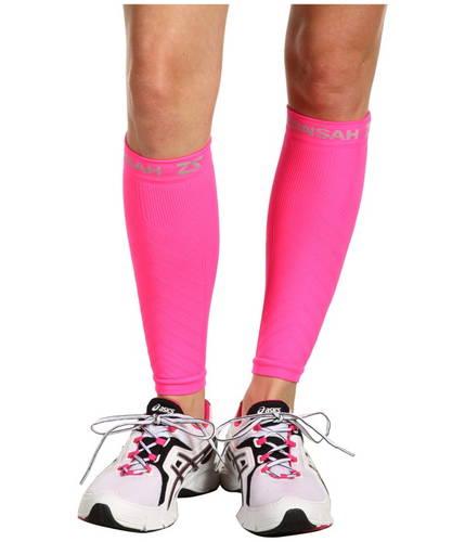 コンプレッション レッグ スリーブ ネオン ピンク メンズ 男性用 フィットネス ウェア 【 PINK ZENSAH COMPRESSION LEG SLEEVES NEON 】