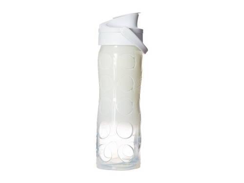 ガラス ボトル アクティブ フリップ キャップ 帽子 白 ホワイト オンブル OZ. メンズ 男性用 ウォーターボトル スポーツ 【 LIFEFACTORY GLASS BOTTLE OMBRE SPLASH WITH ACTIVE FLIP CAP 16 WHITE 】