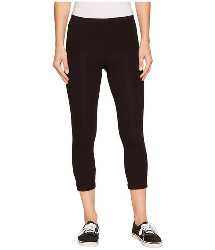 コットン カプリ レギンス 黒 ブラック レディース 女性用 レディースファッション ボトムス 【 BLACK HUE COTTON CAPRI LEGGING 】