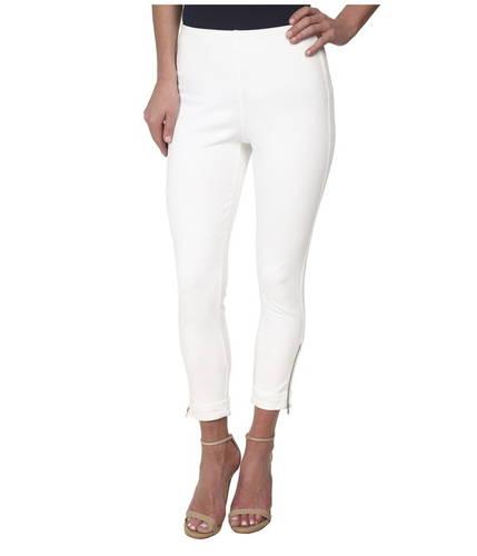 デニム カーフド クロップ 白 ホワイト レディース 女性用 レディースファッション パンツ 【 CROP LYSSE DENIM CUFFED WHITE 】