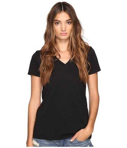 ハーレー パーフェクト 黒 ブラック レディース 女性用 カットソー Tシャツ 【 BLACK HURLEY STAPLE PERFECT V 】