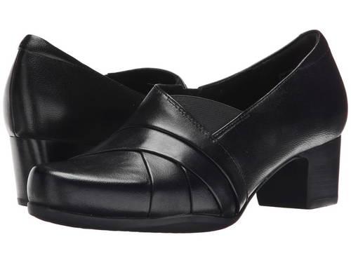 クラークス 黒 ブラック レザー レディース 女性用 ローファー レディース靴 【 BLACK CLARKS ROSALYN ADELE LEATHER 】