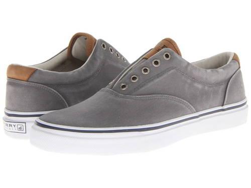 ストライパー ツイル GRAY灰色 グレイ メンズ 男性用 靴 【 GREY SPERRY STRIPER CVO SALTWASHED TWILL 】