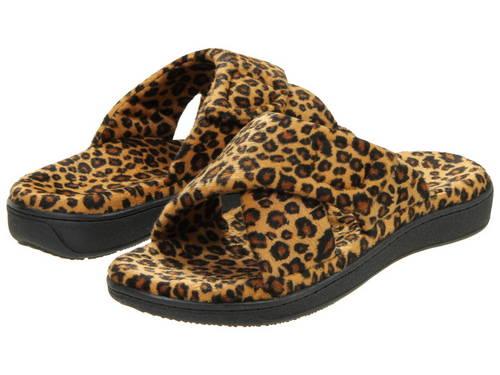 リラックス スリッパ タン レオパード レディース 女性用 靴 【 VIONIC RELAX SLIPPER TAN LEOPARD 】