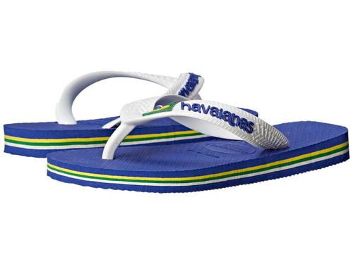 ハワイアナス ロゴ フリップ フロップ マリン 青 ブルー 子供用 ビッグキッズ 靴 サンダル 【 BLUE HAVAIANAS KIDS BRAZIL LOGO FLIP FLOPS TODDLER MARINE 】