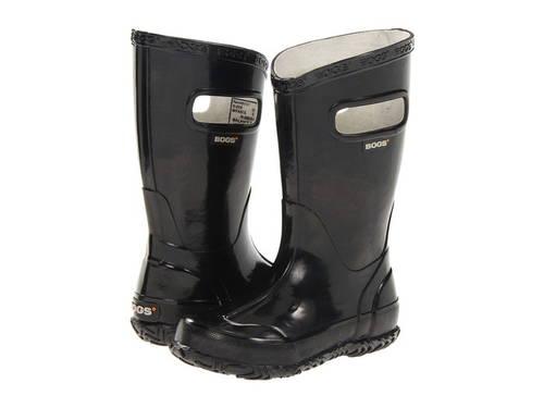 ソリッド レイン ブーツ 黒 ブラック 子供用 ビッグキッズ キッズ 靴 【 SOLID BLACK BOGS KIDS GLOSH RAIN BOOT TODDLER 】