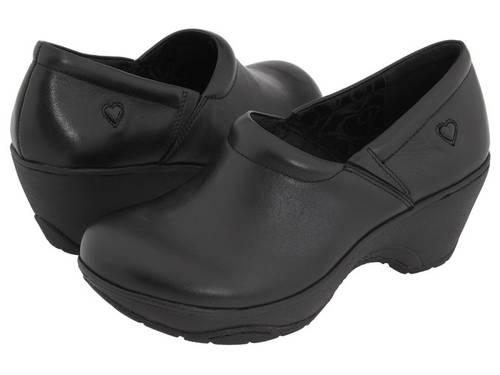 黒 ブラック レディース 女性用 ミュール 靴 【 BLACK NURSE MATES BRYAR 】