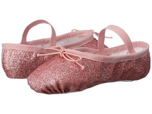 グリッター ダスト バレエ スリッパ ローズ 子供用 ビッグキッズ 靴 キッズ 【 ROSE BLOCH KIDS GLITTER DUST BALLET SLIPPER TODDLER 】