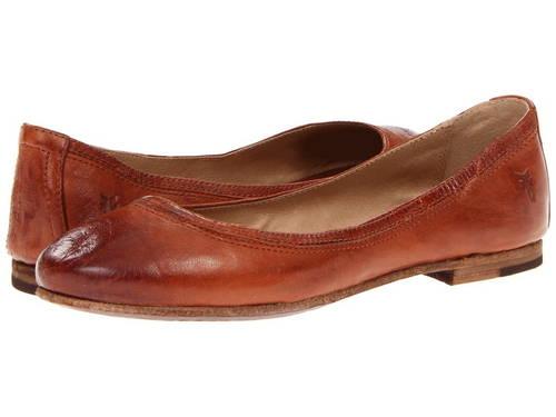 フライ バレエ コニャック アンティーク ソフト フル グレイン レディース 女性用 バレエシューズ レディース靴 【 FRYE CARSON BALLET COGNAC ANTIQUE SOFT FULL GRAIN 】