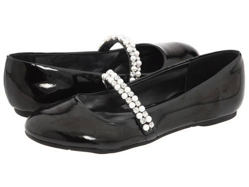 ニーナ 黒 ブラック パテント 子供用 リトルキッズ 靴 ベビー 【 BLACK NINA KIDS NATALY PATENT 】