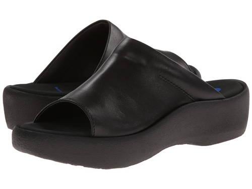 黒 ブラック スムース レディース 女性用 レディース靴 サンダル 【 BLACK WOLKY NASSAU SMOOTH 】