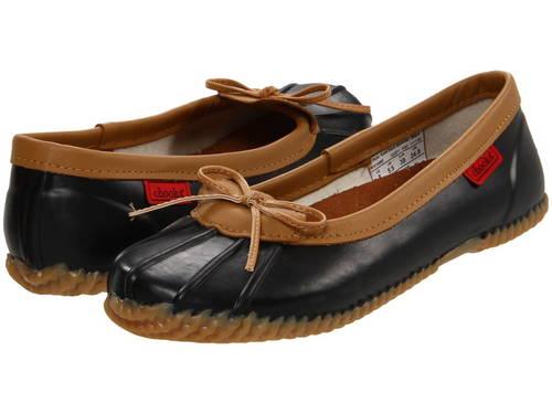 ソリッド ダック 黒 ブラック レディース 女性用 レディース靴 【 SOLID BLACK CHOOKA DUCK SKIMMER 】