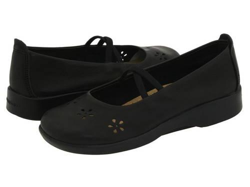 フラワー 黒 ブラック レザー レディース 女性用 バレエシューズ レディース靴 【 BLACK ARCOPEDICO FLOWER LEATHER 】