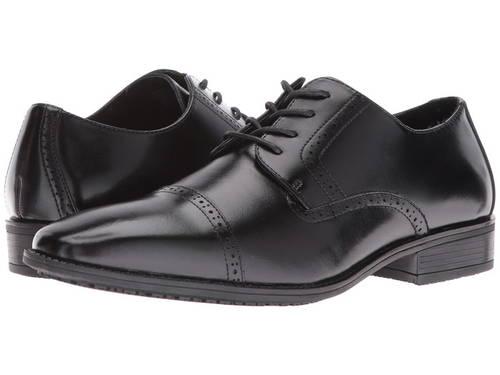 アダムス アボット スリップ レジスタント キャップ 帽子 トー オックスフォード 黒 ブラック メンズ 男性用 ビジネスシューズ メンズ靴 【 BLACK STACY ADAMS ABBOTT SLIP RESISTANT CAP TOE OXFORD 】