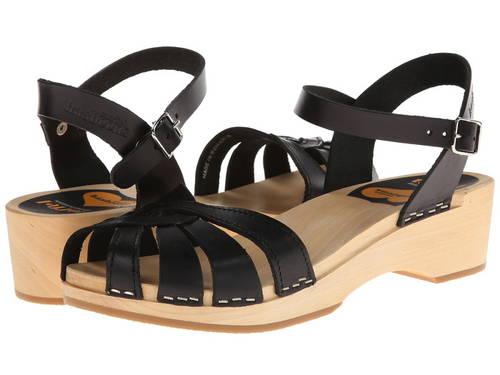 クロス ストラップ デビュー 黒 ブラック レディース 女性用 レディース靴 【 BLACK SWEDISH HASBEENS CROSS STRAP DEBUTANT 】