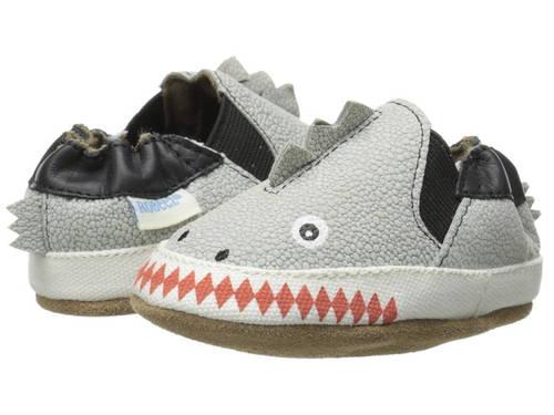 ダン ソフト GRAY灰色 グレイ ベビー 赤ちゃん用 靴 【 GREY ROBEEZ DINO DAN SOFT SOLES INFANT TODDLER PALE 】