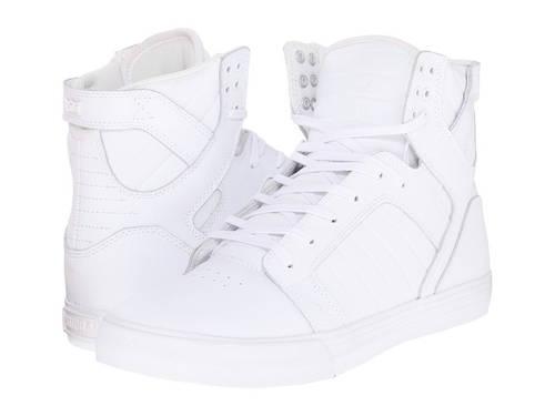 スープラ スカイトップ メンズ 男性用 靴 【 SUPRA SKYTOP WHITE RED 】