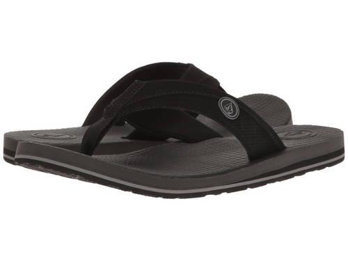 ボルコム 黒 ブラック メンズ 男性用 メンズ靴 【 VOLCOM BLACK LOUNGER 】