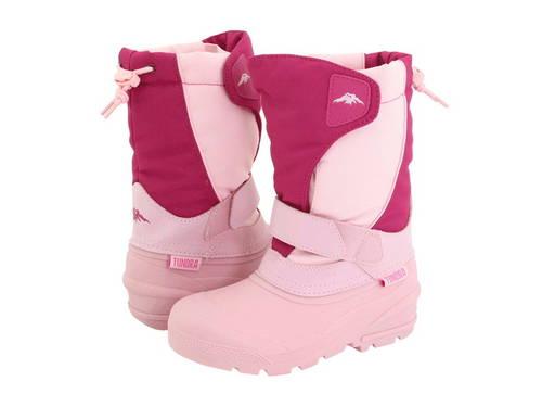 ブーツ 子供用 ビッグキッズ ベビー 靴 【 TUNDRA BOOTS KIDS QUEBEC TODDLER FUCHSIA PINK 】