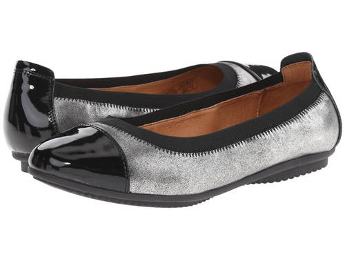 アンティーク レディース 女性用 レディース靴 【 JOSEF SEIBEL PIPPA 07 BASALT BLACK ANTIQUE METALLIC LACK 】