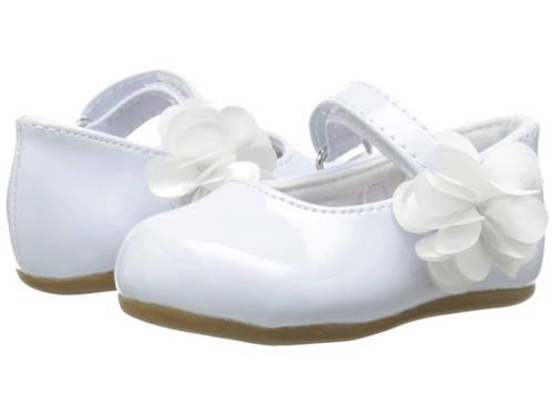 ベイビー ディア パテント ウォーカー ソール 白 ホワイト ベビー 赤ちゃん用 マタニティ ベビー服 【 BABY DEER PATENT SKIMMER WALKER SOLE INFANT TODDLER WHITE 】