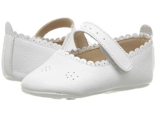 バレエ 白 ホワイト カジュアル ファッション ベビー靴 キッズ 【 ELEPHANTITO ELLA BALLET INFANT TODDLER WHITE 】