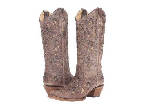 ブーツ ボーン レディース 女性用 靴 メンズ靴 【 CORRAL BOOTS A1098 BROWN CRATER BONE 】