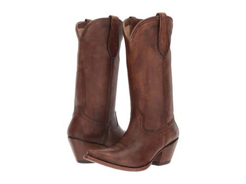 茶 ブラウン レディース 女性用 靴 ブーツ 【 ARIAT JOSEFINA NATURALLY DISTRESSED BROWN 】