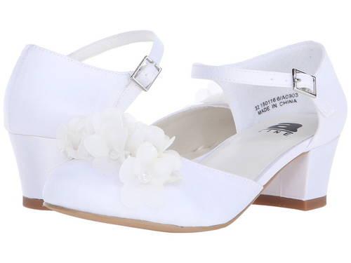 白 ホワイト サテン 子供用 リトルキッズ 靴 マタニティ 【 AMIANA ALINE 6A0903 TODDLER ADULT WHITE SATIN 】