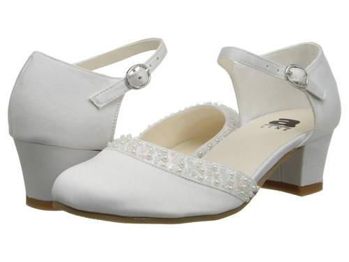 白 ホワイト サテン 子供用 リトルキッズ 靴 マタニティ 【 AMIANA 6A0684 TODDLER ADULT WHITE SATIN 1 】