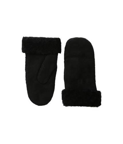 シープスキン ミット 黒 ブラック レディース 女性用 手袋 小物 【 BLACK HESTRA SHEEPSKIN MITT 】