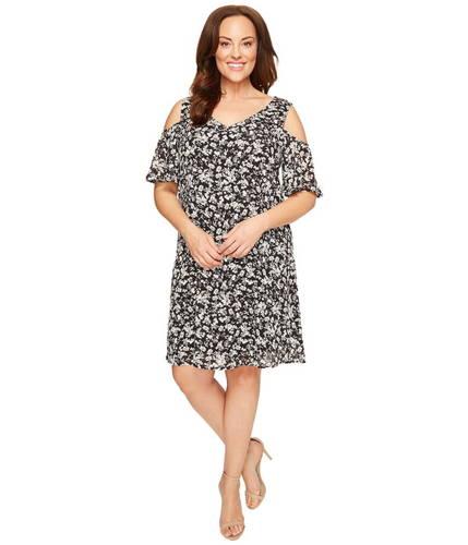 ドレス サイズ プラス メアリー ショルダー ワンピース コールド plus size mary cold shoulder dress レディースファッション