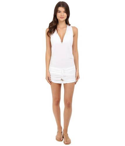 ブエナ ミニ ドレス ワンピース カバーアップ 白 ホワイト レディース 女性用 レディースファッション 【 LULI FAMA COSITA BUENA TBACK MINI DRESS COVERUP WHITE 】