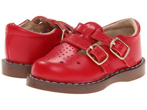 アップル 赤 レッド 子供用 ベビー 赤ちゃん用 靴 【 FOOTMATES DANIELLE 3 INFANT TODDLER APPLE RED 】