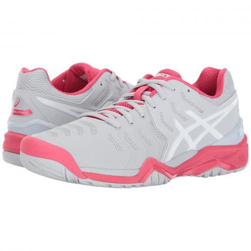 アシックス 赤 レッド メンズ 男性用 メンズ靴 靴 【 ASICS GELRESOLUTION 7 GLACIER GREY WHITE ROGUE RED 】
