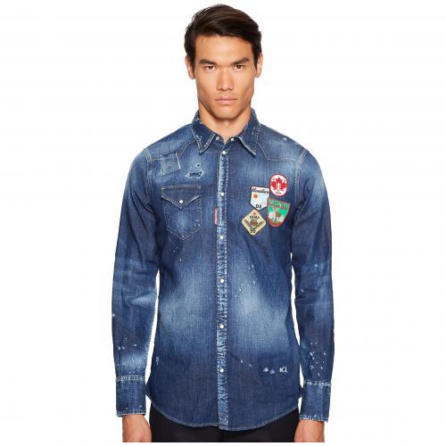 patch western shirt シャツ パッチ ウェスタン カジュアルシャツ トップス メンズファッション