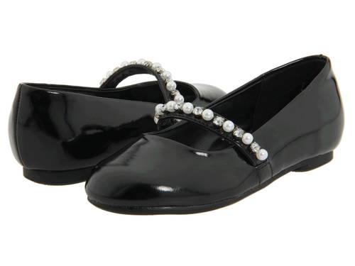 ニーナ 黒 ブラック パテント 子供用 ビッグキッズ ベビー 靴 【 BLACK NINA KIDS NATALY TODDLER PATENT 】
