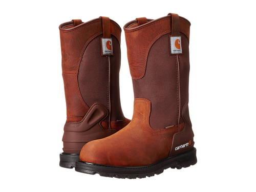"""カーハート ウェリントン ブーツ バイソン 茶 ブラウン 11"""" メンズ 男性用 メンズ靴 【 CARHARTT CMP1100 WELLINGTON BOOT BISON BROWN 】"""
