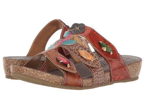 スプリング ステップ 茶 ブラウン マルチ L'ARTISTE レディース 女性用 レディース靴 【 SPRING BY STEP AGHNA BROWN MULTI 】