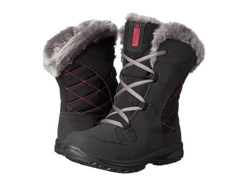 コロンビア アイス レース ブーツ MAIDEN 子供用 リトルキッズ ベビー 靴 【 COLUMBIA KIDS ICE LACE II BOOT BLACK SHALE 】
