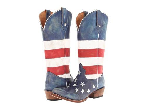 アメリカン フラッグ トー レディース 女性用 ブーツ 靴 【 ROPER AMERICAN FLAG SNIP TOE RED WHITE BLUE 】