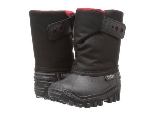 ブーツ テディ 子供用 リトルキッズ キッズ 靴 【 TUNDRA BOOTS KIDS TEDDY 4 TODDLER BLACK RED 】