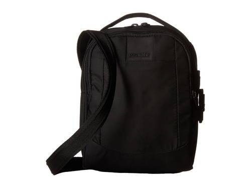 クロスボディ バッグ 黒 ブラック レディース 女性用 男女兼用バッグ 【 BLACK PACSAFE METROSAFE LS100 CROSSBODY BAG 】