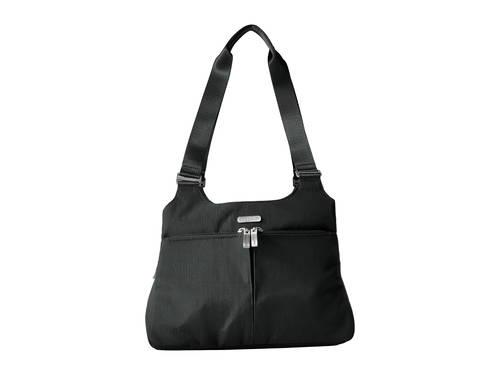 トリプル 黒 ブラック カジュアル ファッション ブランド雑貨 バッグ 【 BLACK BAGGALLINI TRIPLE COMPARTMENT SATCHEL 】
