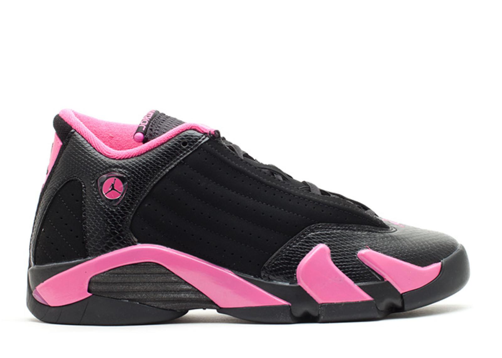 エアー ジョーダン ビッグキッズ 子供用 レトロ ピンク メンズ 男性用 スニーカー 靴 メンズ靴 【 AIR JORDAN PINK GIRLS 14 RETRO GS BLACK DESERT 】